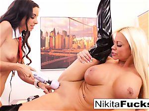 Nikita's lesbian office drill