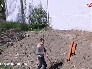 MyDirtyHobby super-fucking-hot teenage pounding the Gardener
