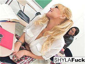 schoolgirl Shyla Gets screwed