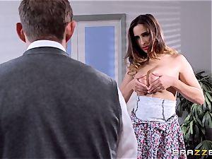 Ashley Adams pokes her tutor