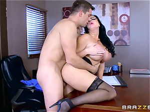 Roman Nomar penetrates his insatiable assistant Sybil Stallone