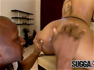 ebony Marie Luv gets rectal from big black cock