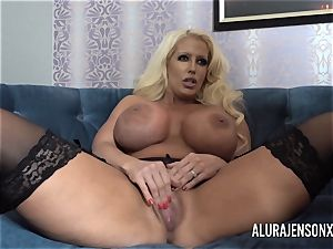 Alura and her huge-chested all girl mate Dolly get insane