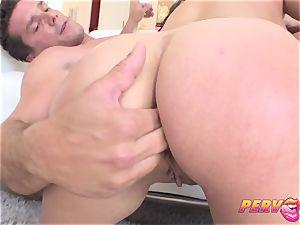 Skanky brunette likes anal invasion action