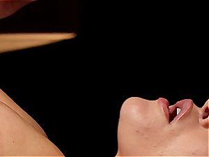 wild masseuse makes Krissy Lynn wiggle after voluptuous enjoy making