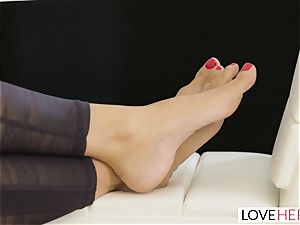 LoveHerFeet - Stepson ravages His Stepmom On The bed