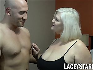 LACEYSTARR - GILF tempts gigantic dicked hairy man into tearing up