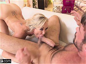 spraying Brandi enjoy enjoys having a fuckpole in her vagina