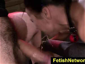FetishNetwork Becca Diamond gags on fuck-stick