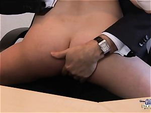 My step-sister pounded Her chief in the office