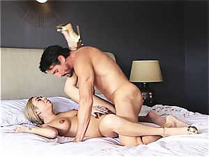 petite tattooed blondie bj's, drills and swallows like a true pornography star