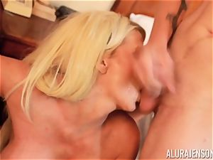 trunk deepthroating super-naughty 3some Alura Jenson and fellow gives a helping palm