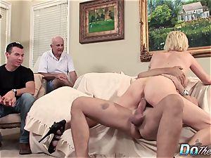 husband observes wife Kasey Grant sodomized