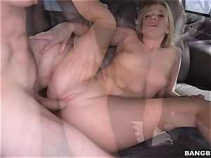 Bailey Brooke torn up on the Bangbus