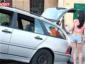 LETSDOEIT - teenage ravages elderly guy For Free Car Repair