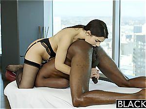 BLACKED stellar Italian babe Valentina Nappi butt licking dark-hued guy With passion