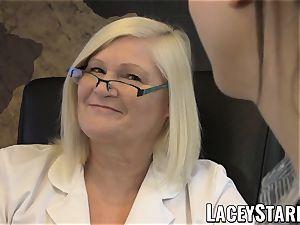 LACEYSTARR - GILF heals patient with lezzie orgasm