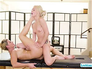 Elsa and India adores red-hot sixty nine position on the rubdown table
