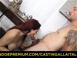 casting ALLA ITALIANA - busty rookie heads for assfuck fuck-a-thon