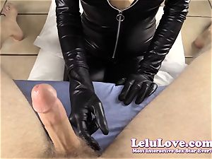 teasing and gargling YOUR man meat in my catsuit