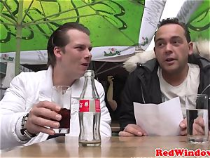 Bigtitted dutch tart dickblowing customer