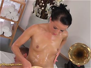 greasy nuru fuck-fest for fortunate poolboy