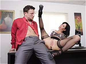 blasting black-haired Veronica Avluv slit inserted and fisted