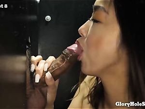 crazy japanese milf Makes love with her facehole to 13 meatpipes