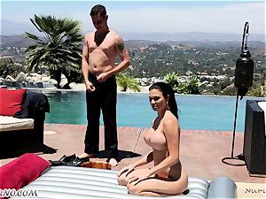 delightful chesty masseuse Jasmine Jae gets dual titfucked