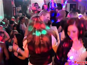 euro amateurs gobbling puss on the dancefloor