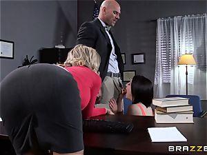 Simone Sonay romps the schoolteacher with schoolgirl chase Ryder