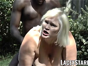 LACEYSTARR - granny asking for young dark-hued pecker