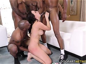 interracial gangbang and double penetration with Chanel Preston