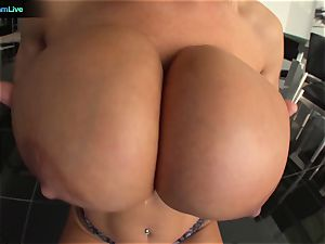Lisa Ann in tights always a aficionado of hefty rods