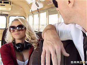 horny hitchhiker Marsha May fucking steamy bus driver