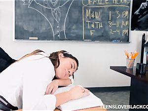 Melissa Moore plumbed her ebony teacher