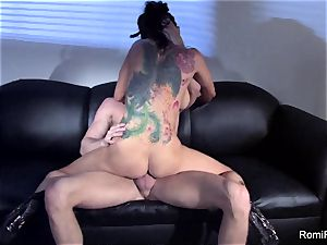 gorgeous Romi Rain taunts and then gets boinked stiff