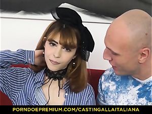 audition ALLA ITALIANA - thin stunner takes spunk-pump like professional