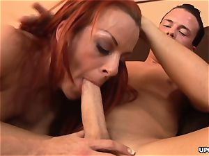 anally penetrating the redhead big-titted ultra-cutie with desire