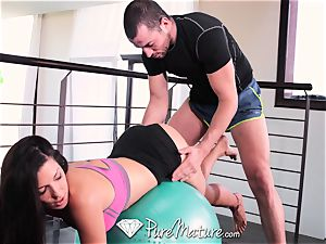 PureMature mummy Alexa Tomas ass fucking bang from tutor
