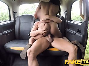 faux taxi swift plowing and internal ejaculation for peachy culo