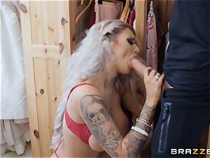 molten blond Brooklyn Blue torn up rock-hard