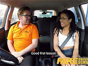 fake Driving college black american minx Kira Noir