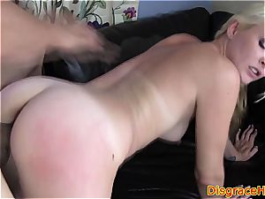 towheaded with small bra-stuffers spanked and penetrated hard
