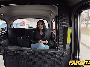 faux cab steaming Latina with large baps and ass