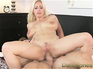Dane Jones bum licking twat tearing up cowgirl riding