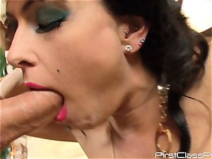 vintage stiffy gobbling black-haired bombshell Jessica Jaymes