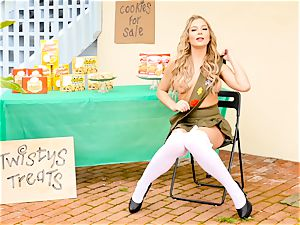 Scout stunner Blair Williams sells her steamy cookies