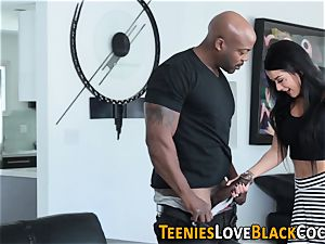 inked teenage deep-throats big black cock