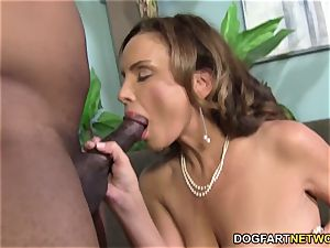 big-titted milf Rebecca Bardoux luvs big black cock anal